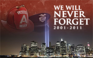 We Will Never Forget flag, 911 Flag