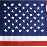 US flag with polehem